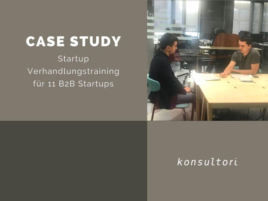 Case Studies Startup Verhandlungen © konsultori