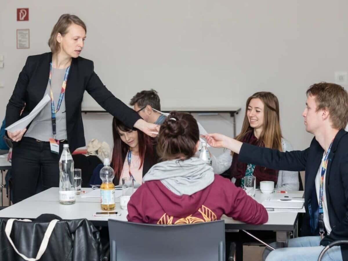 In medias res beim Workshop zur KundInnengewinnung Copyright Regine Schöttl